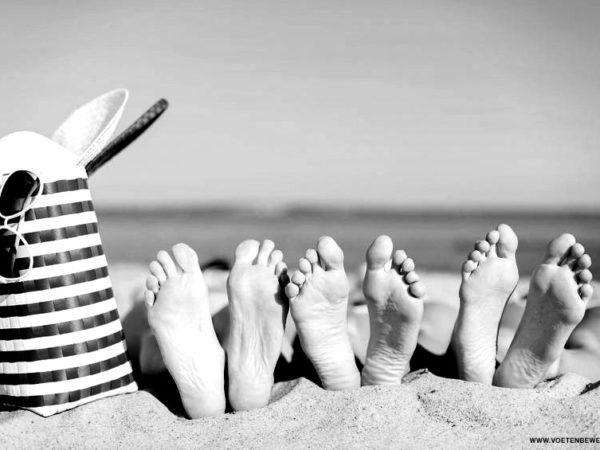 goed verzorgde voeten in de zomer